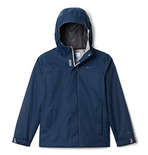 Columbia Boys' Little Watertight Jacket, Waterproof & Breathable, Dark Mountain, X-Small