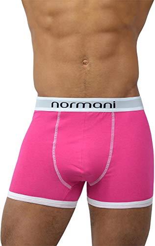normani 4 x Herren Retroshorts mit hohem Baumwollanteil und verschiedenen Motiven Farbe Retro Pink Größe XXL