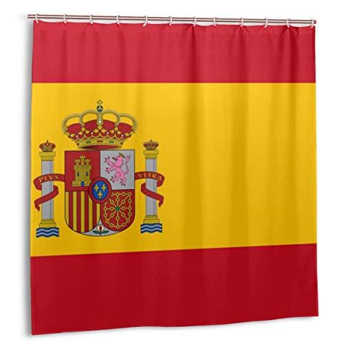 Lichenran Bandera española roja de España Brazos Dimensiones exactas Proporciones y Colores Amarillo Oficial, decoración del hogar Cortina de Ducha 60inX72in