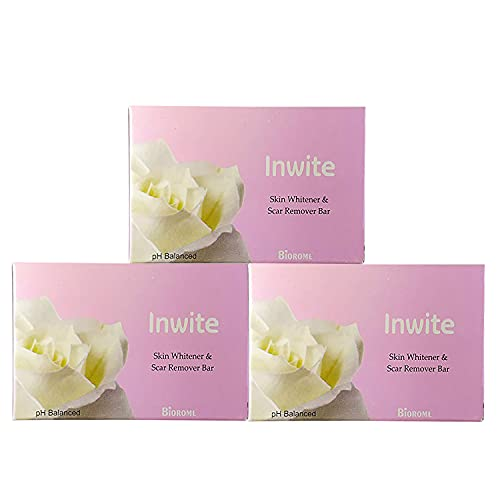 INWITE SKIN WHITNER & SCAR REMOVER SOAP WITH PH BALANCED (PACK OF 3 )75GM