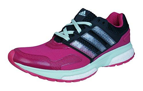 adidas Response Boost 2 Techfit W - bopink/cblack/frogrn, Größe:3.5