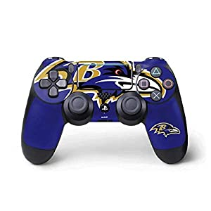 Skinit Decal Gaming Skin for PS4 Pro/Slim Controller - Officially Licensed NFL Baltimore Ravens Large Logo Design