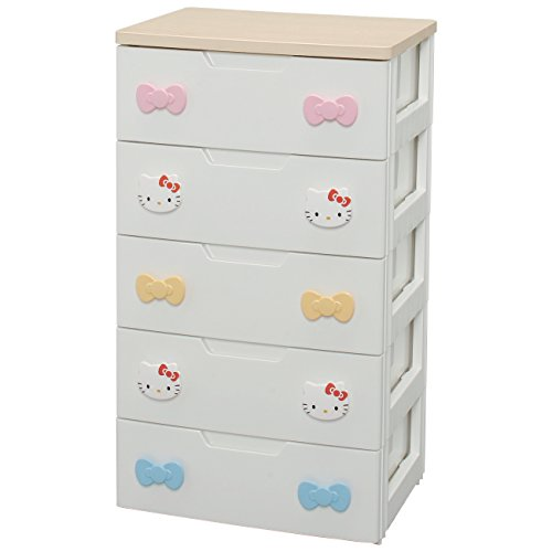 Kids drawers Hello Kitty 56cm width 5 drawers