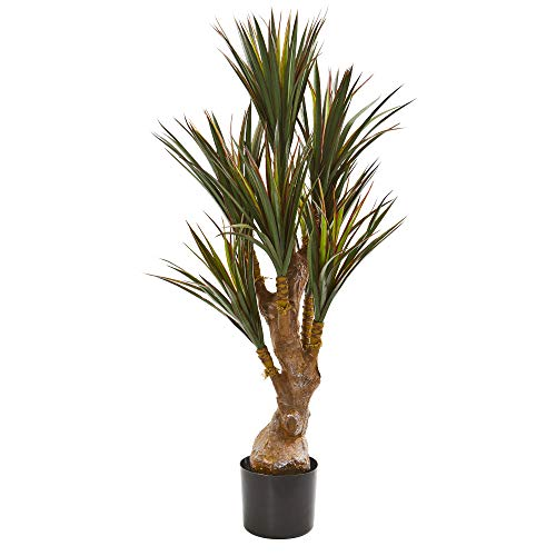 """Nearly Natural 46"""" Yucca Artificial UV Resistant (Indoor/Outdoor) Silk Trees Green"""