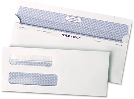 Quality Park : Reveal-N-Seal Double Window mart Self- outlet Check Envelope