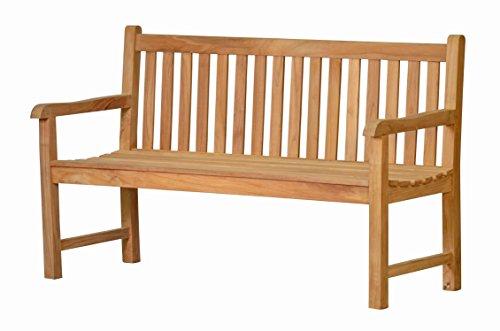 Kai Wiechmann Gartenbank Andorra Teak-Holz 110 cm 2-Sitzer unbehandelt ✓ massiv ✓ wetterfest ✓