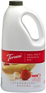Torani Real Fruit Smoothie Strawberry Banana Mix 64 oz