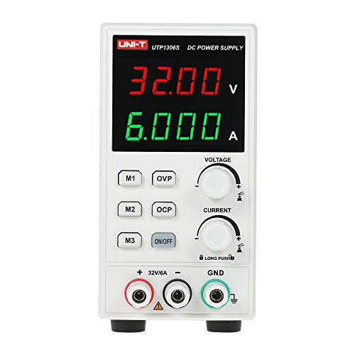 Fuente de Alimentación Regulable Laboratorio 220v,UTP1306S Fuentes Alimentacion Continua Laboratorio Ajustable DC Digital LED Portatil Alta Precision 4 Digitos Corriente Voltaje