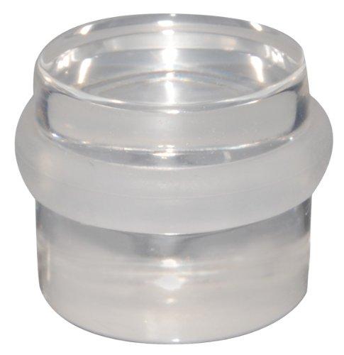 WAGNER Bodentürstopper - Clear - Hochwertiger Kunststoff, transparent, Durchmesser 38 x 30 mm, selbstklebend, rückstandslos entfernbar - 15502911