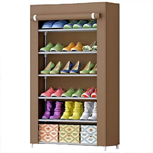 Wanforjewellery 6 vouwkast schoenenrek, stofdichte stoffen schoenenkast schoenen, 108 * 60 * 30 cm