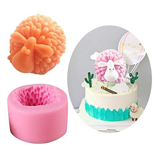 SEPTEMBER Molde de silicona para jabón de ovejas, para tartas, chocolate, fondant (2)