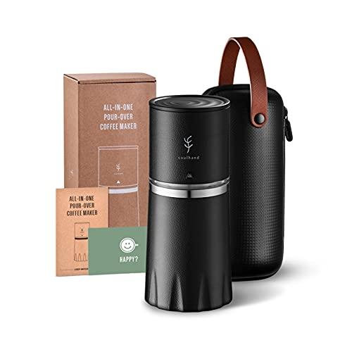 ZHANGZHI Przenośny ekspres do kawy Puchar podróży wlać do ekspresu do kawy all-in-One z szlifowaniem filtrów American Beer Espresso Espresso Manual Cafe