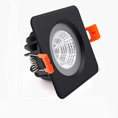 Foco empotrable de techo LED negro a prueba de agua 5W 7W 12W 15W baño interior iluminación de balcón LED COB downlight-natural_white_15W