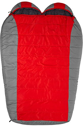 Mummy Style Double Sleeping Bag for Backpackers with Inside Pockets and Special Footbox