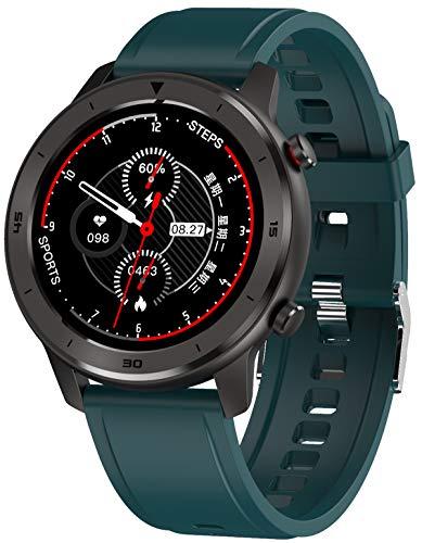 Smartwatch Fitness Armbanduhr mit Pulsmesser Sport Touch Farbdisplay Blutdruck Schlafmonitor IP68 Wasserdicht Kalorienzähler Android IOS
