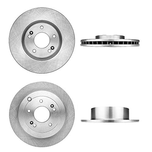CRK13615 FRONT 298 mm + REAR 302 mm Premium OE 5 Lug [4] Brake Disc Rotors