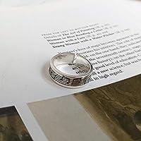 s925スターリングシルバー音符オープンインデックス指輪女性-jz336(セクション)