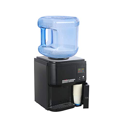 Amay Countertop Hot and Cold Water Cooler Dispenser, 3 to 5 Gallons, Child Safety Lock, with Energy Saving Switch