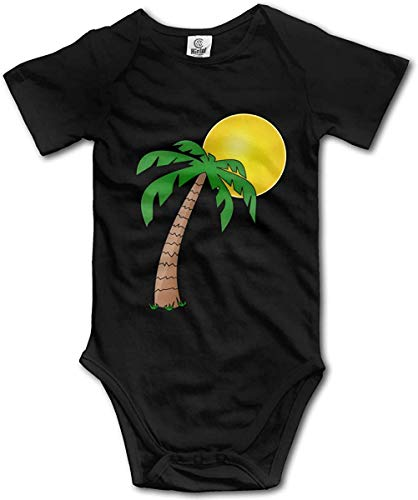 WlQshop Mono para Bebé,Mameluco Bebé Unisex Palm Tree Creeper Jumpsuits Short Sleeve Infant Cotton Bodiess