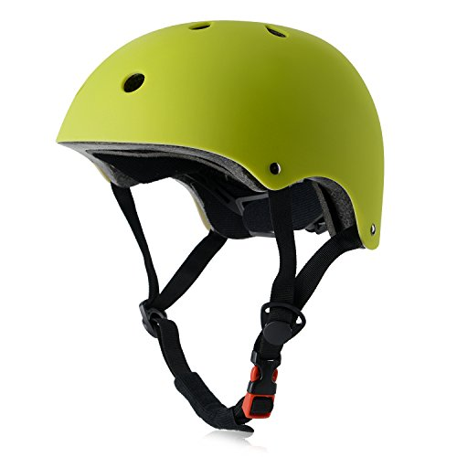 Kids Bike Helmet, Adjustable and Multi-Sport, from Toddler to Youth, 3 Sizes (Green)