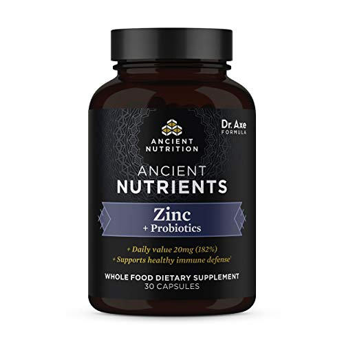 Zinc + Probiotics, 20 mg, Ancient N…