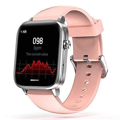 Smart Watch H7 Men Women IP67 Waterproof Full Touch Screen Long Standby Heart Rate Blood Pressure Bluetooth Smartwatch (Pink)