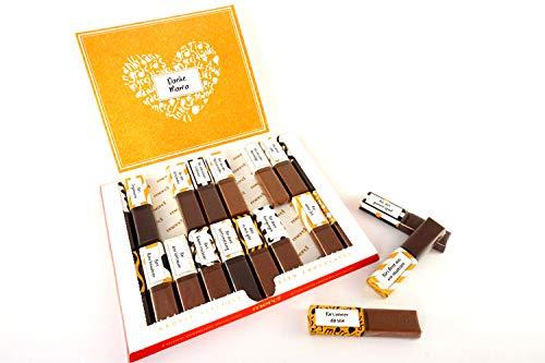 SURPRISA Aufkleberset für Merci-Schokolade: Das persönliche Dankeschön und kreative Geschenk für Mama oder Papa