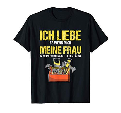 Herren Werkstatt Schrauber Handwerker Ehemann Werkzeuge Geschenk T-Shirt