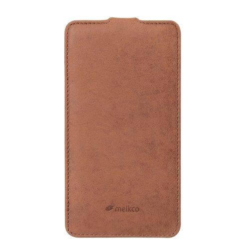 Melkco Premium Jacka Type Leder Case für Samsung Galaxy Note 3 GT-N9000 Classic Vintage braun