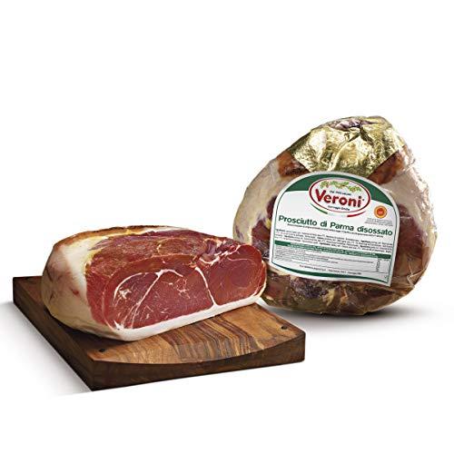 VERONI Pelatello Roher Schinken Parma KEIN GVO ganzes stück 5,6 kg geschnittenes zartes und anhaltendes Aroma ausgewogener, runder und angenehmer Geschmack ohne Gluten und Glutamat
