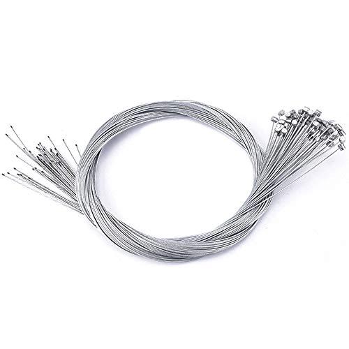 Lezed Fahrrad Bremskabel Bremszug Cable Bowdenzug Bremsseil Bremsen Kabel, hintere innere Bremsen Kabel Kerndrähte für Fahrrad MTB Rennrad 1,75M 1,4mm 20 Stück
