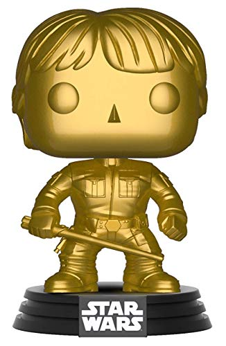 Star Wars Funko Pop! : Edicion Especial de Luke Skywalker Gold Bobble-Head