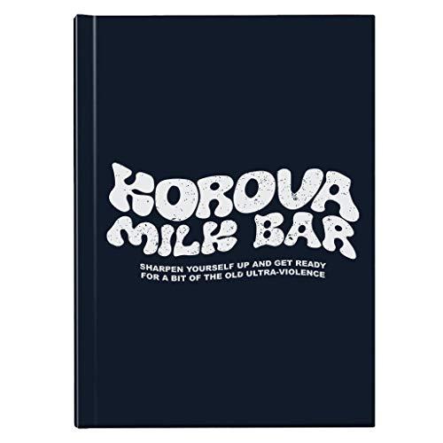 Een uurwerk Oranje Korova Melk Bar Logo Hardback Journal
