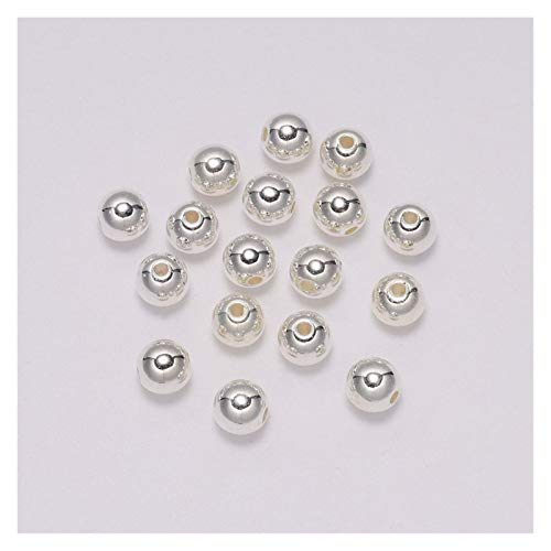 WESET 100pcs/bag With Hole ABS Imitation Pearl Beads 4/6/8/10/12MM Round Plastic Acrylic Spacer Bead (Color : NUDE, Size : 12mm x 50pcs)