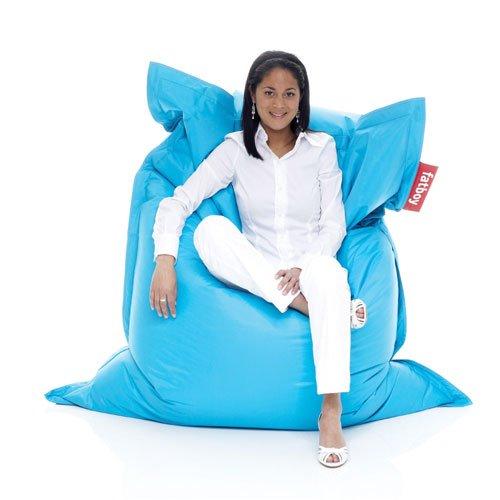 Fatboy® Original türkis Nylon-Sitzsack| Klassischer Indoor Beanbag, Sitzkissen | 180 x 140 cm
