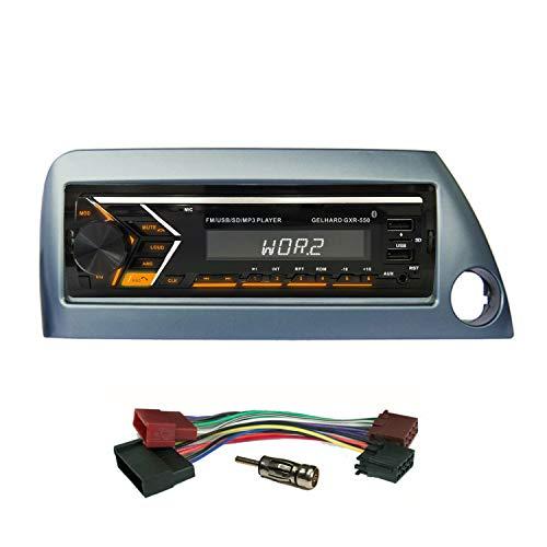 AUTORADIO mit USB SD MP3 Bluetooth UKW RDS kompatibel mit Ford KA 1996>2008 / Blende blau-metallic