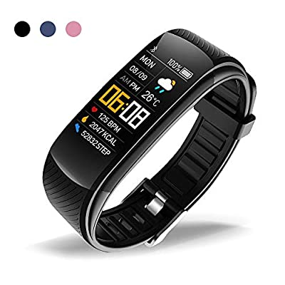 oriver C5 Fitness Tracker, Activity Tracker Watch with Heart Rate Monitor, Pedometer Watch for Kids Women and Men, Black