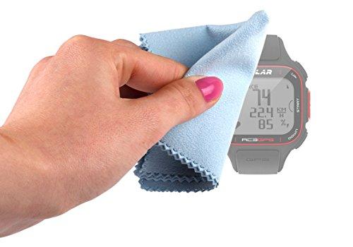 DURAGADGET Paño De Microfibras para Reloj Polar RC3 GPS Bike / RS300X / FT7M - (8 x 6 Pulgadas) Limpiar La Pantalla - Calotherm - Calocloth