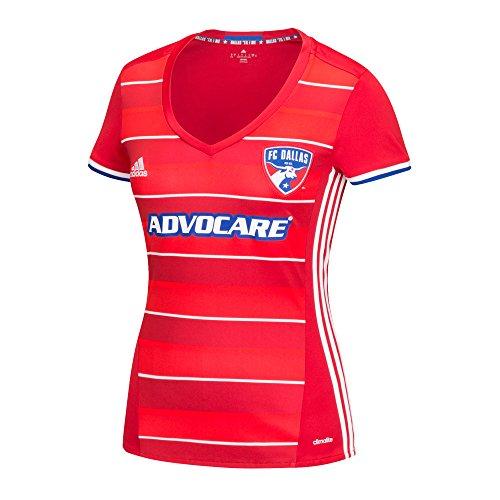 MLS Fc Dallas Women's Replica Short Sleeve Team Jersey, Red, Medium