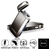 AUTSCA Briquet Rechargeable USB, Briquet Électronique Double Arcs pour Cigarette,...
