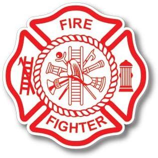 3 Pack Firefighter Badge Maltese Cross Thin Red Line Red Lives Matter for Firemen or Firewomen product image