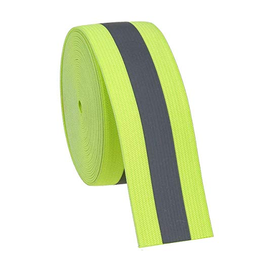 Jocon Safety SF8100 Sew On Florescent Reflective Elastic Tape 2'X118'-Green