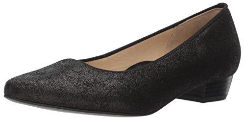 ARA Women's Peggy Ballet Flat, Black Dusty Calf, 6.5 M US