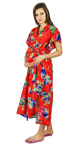 Bimba Maternity Hospital Delivery Gown Nursing Night Wear, Front & Back Buttons - to be Moms Gift