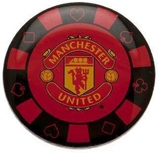 Manchester United FC Badge en métal avec jeton de poker