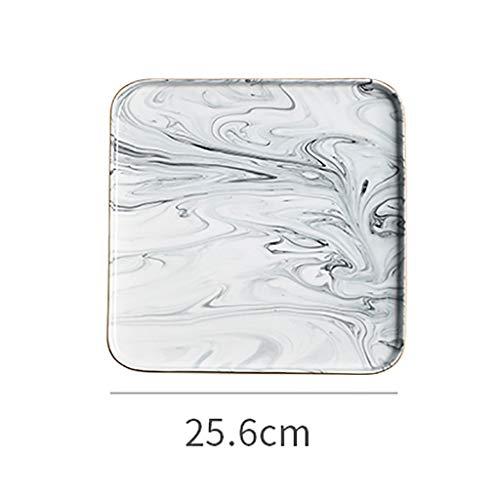 XXLCJ dessertborden keramische plaat marmer bloem tide bewaardozen voedsel display container