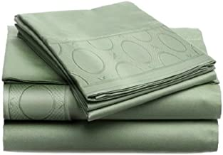 LUXURIOUS Jill Morgan Embroided -Allegra KING 4pc Sheet Set, 2-JMA-403, SAGE by Home Dynamix