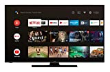 Hitachi U43KA6150 109 cm / 43 Zoll Fernseher (Android 9.0 Smart TV inkl. Prime Video/Netflix/YouTube, 4K UHD + HDR 10, Bluetooth, PVR-Ready, Triple-Tuner) [Modelljahr 2020] …