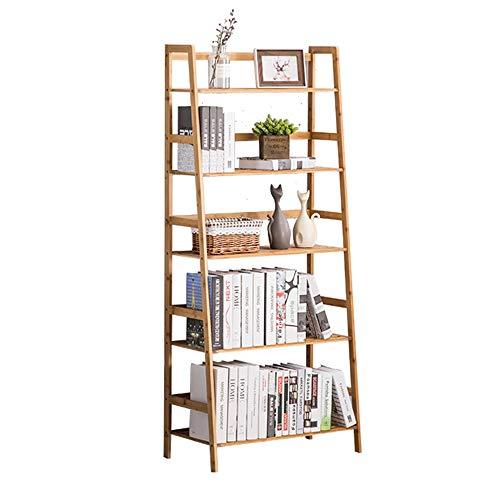Axdwfd Boekenrek, boekenrek, ladder, boekenrek, landing, boekenrek, eenvoudig boekenrek met meerdere lagen