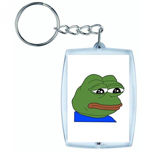 Druckerlebnis24 Schlüsselanhänger - Frog- Amphibien- Anthropomorphe- Tier - Keyring - Taschenanhänger - Schlüsselring